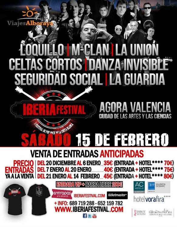 Iberia Festival pop rock febrero Valencia