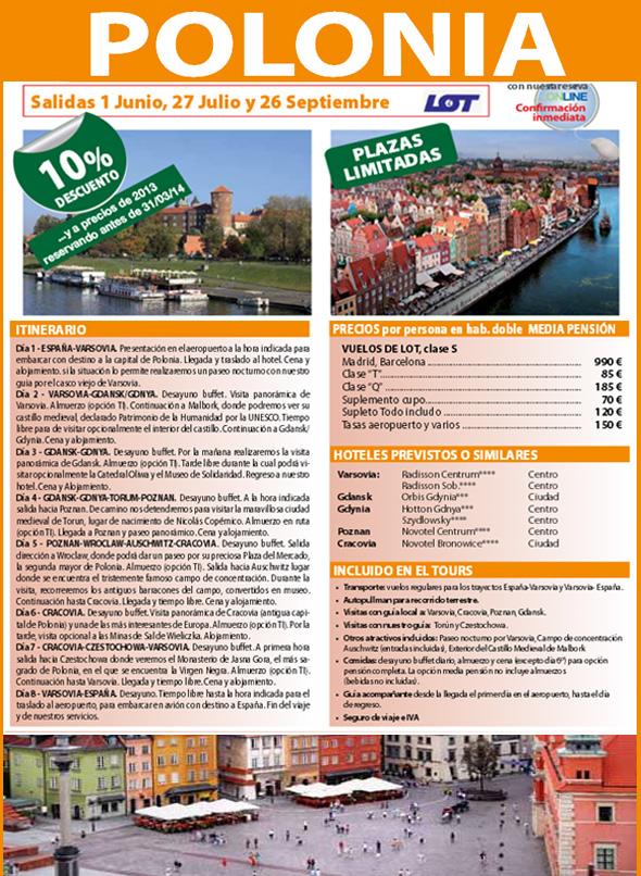oferta viaje a polonia con precios viajes alboraya