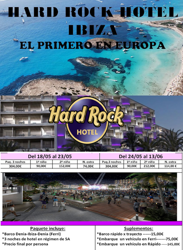 descripcion oferta hotel hard rock